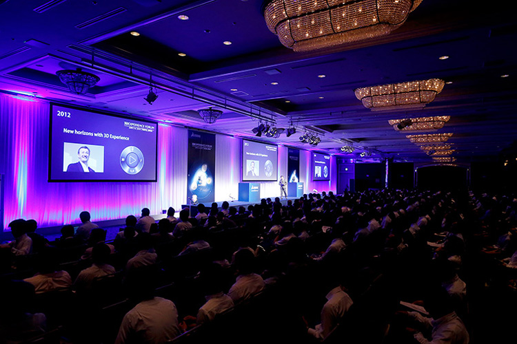 B2B conference, keynote session photo hosted by Dassault systems